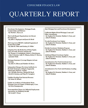 Consumer Finance Law Quarterly Report
